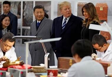Donald Trump visita China