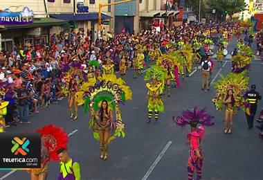 Carnaval de San José dejó música, baile y mucho color