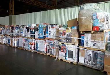 Aduanas retiene más de cinco toneladas en electrodomésticos
