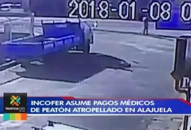 Incofer asume pagos médicos de peatón atropellado en Alajuela