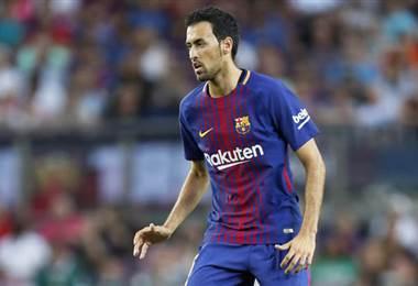Sergio Busquets, volante del FC Barcelona.