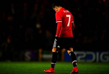 Alexis Sánchez, atacante del Manchester United.