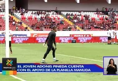 Jugadores de Alajuelense le dan voto de confianza al portero Adonis Pineda