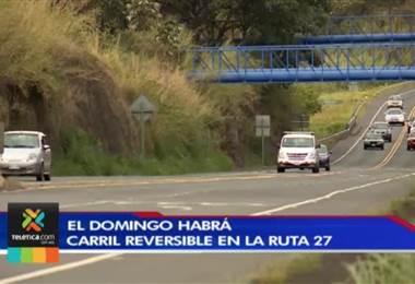 Ruta 27 tendrá carril reversible
