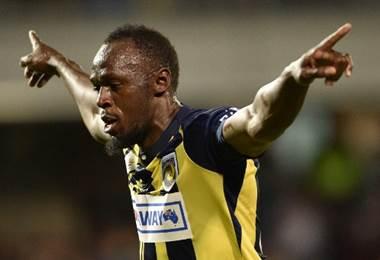 Usain Bolt estrella del Central Coast Mariners.|AFP