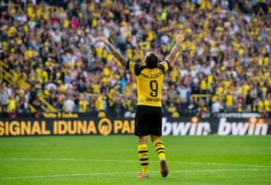 'Paco' Alcácer, delantero español del Borussia Dortmund.