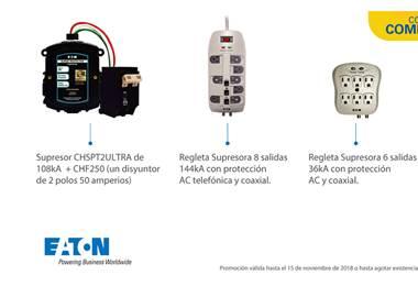 Proteja sus electrodomésticos y aparatos electrónicos de la rayería con supresores de picos