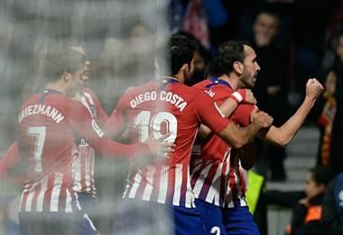 Diego Godín del Atlético de Madrid celebra. AFP