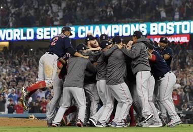 Boston ganó la Serie Mundial. AFP