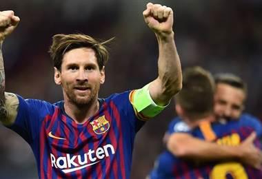 Messi del Barcelona. Facebook Champions League