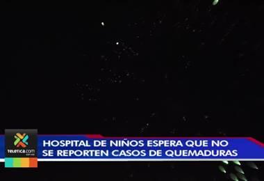 Hospital de Niños hacen un llamado para alejar la pólvora de los menores de edad