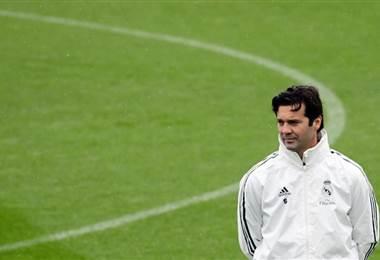 El técnico Santiago Solari del Real Madrid. AFP