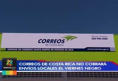 Correos de Costa Rica no cobrará envíos locales el Viernes Negro