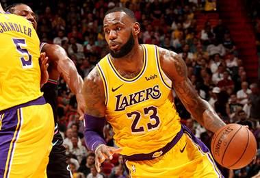 LeBron James, estrella de Los Ángeles Lakers.
