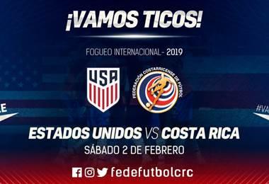 La Sele jugará amistoso ante Estados Unidos.|Fedefútbol