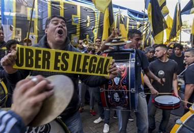 Protestas contra Uber en Argentina |AFP.