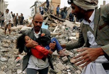La mayor parte de las víctimas civiles fueron causadas por ataques aéreos de la coalición. BBC