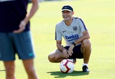 El técnico del Barcelona, Ernesto Valverde.