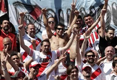 Seguidores de River Plate. AFP