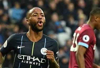 Raheem Sterling del Manchester City. AFP