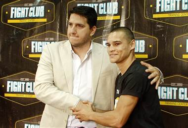 """El boxeador David """"Medallita"""" Jiménez."""