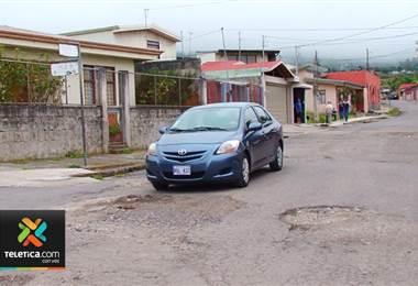 Carretera en Cartago tiene 15 años en mal estado