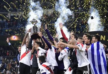 River Plate festejó el título de Copa Libertadores 2018.|AFP