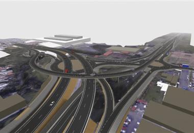 Este es el diseño del paso elevado por la Lima |Imagen cortesía de Casa Presidencial.