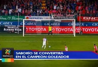 Álvaro Saborío se convertirá en el campeón goleador del Apertura 2018