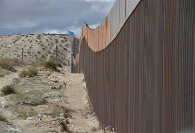 Muro fronterizo entre México y Estados Unidos.