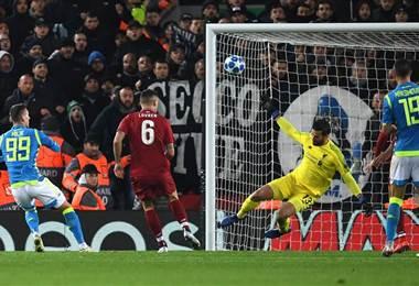 Liverpool derrotó al Nápoles en la Champions League. Facebook
