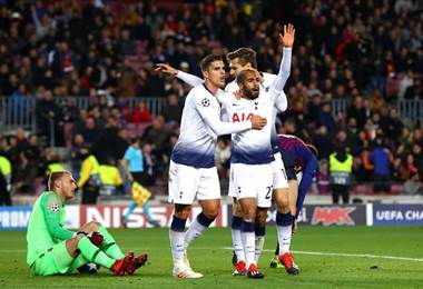 Tottenham empató ante Barcelona. Facebook, UEFA Champions League