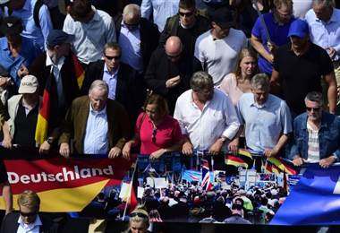 """Líderes de AFD encabezaron la """"Marcha por el futuro de Alemania"""" El pasado mes de mayo en Berlín"""