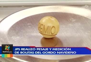 Bolitas que se utilizaran en los premios del Gordo Navideño son importadas de España
