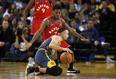 Raptors vencieron a los Golden State Warriors en la NBA.|AFP