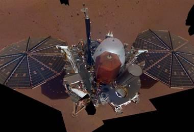 Primer selfie de InSight en Marte. BBC Mundo.