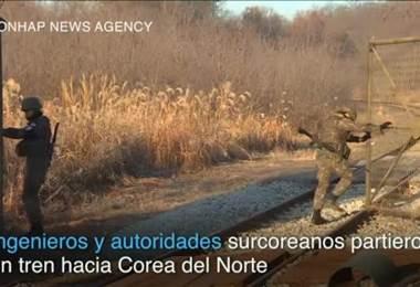 Surcoreanos van al Norte en tren para estudiar posibilidad de reconexión de vías entre ambos países