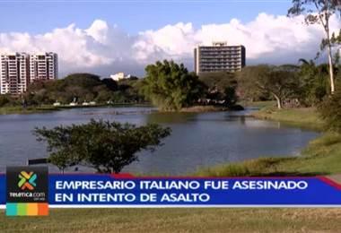 Empresario italiano fue asesinado tras un intento de asalto en las cercanías del lago de La Sabana