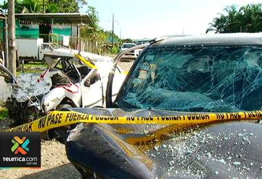 Una madre y su hijo perdieron la vida en un accidente de tránsito en golfito..