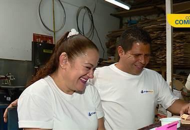 Fideimas financió a pareja artesana para convertirse en micro empresarios