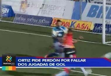 José Guillermo Ortíz pide perdón a la afición tras perder dos opciones de gol ante Saprissa