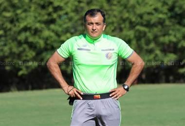 Pedro Navarro, árbitro de la Primera División. Prensa Fedefútbol