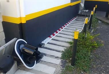 Dos nuevas agujas del tren fueron dañadas