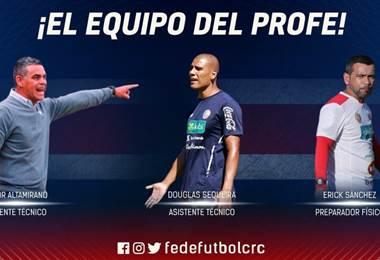 Asistentes de Matosas.|Prensa Fedefútbol