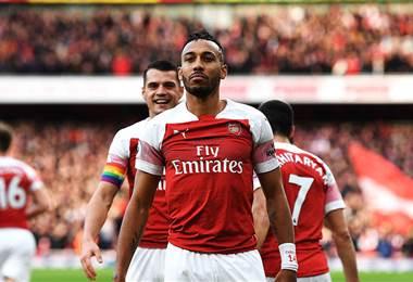 Pierre-Emerick Aubameyang, delantero gabonés del Arsenal.