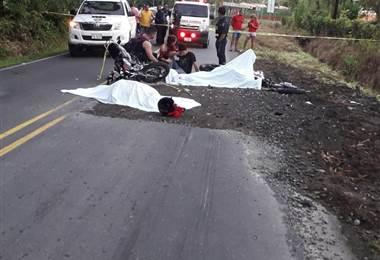 Motociclistas fallecidos en Pococí, Limón