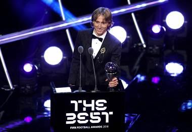 Luka Modric ganó el premio The Best 2018.