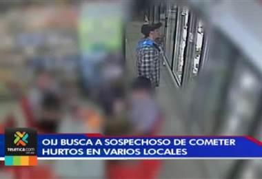 OIJ busca a sospechoso que fueron captados en video cometiendo hurtos en varios locales