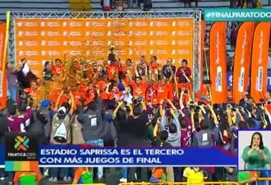 Estadio Ricardo Saprissa es el tercer estadio con más juegos finales