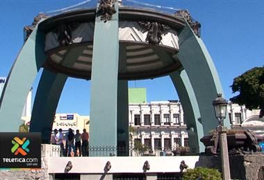 Parque Central fue sometido a una remodelación ₡ 135 millones